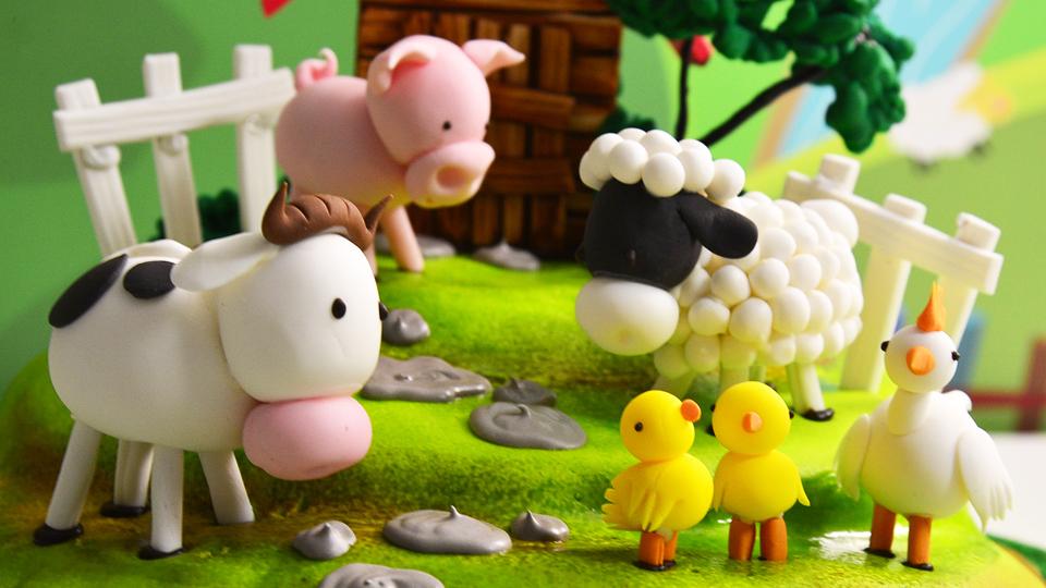 Farm Animal Cake Images