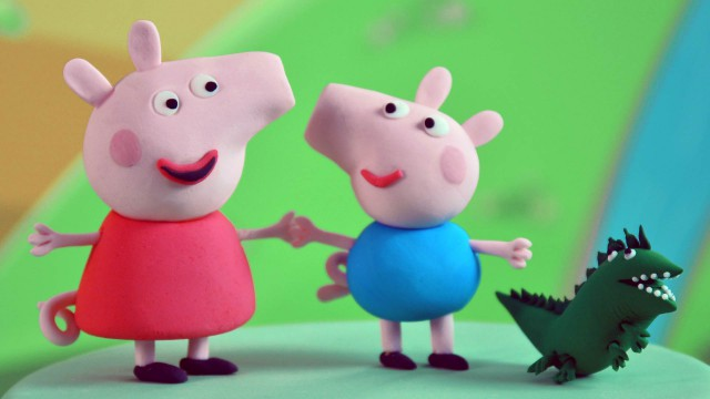 Peppa Pig, George And Mr Dinosaur Fondant Figurines
