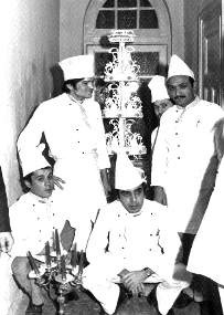 With my staff and assistant Pastry Chef Hakki Pinarbasi (standing right)