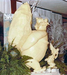 One of my large butter sculpture (Asterix).