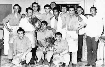 July 1975 - Standing left to right; Ali Ihsan, Husnu Usta, Me, Husamettin, Kemal,  Recai,  Huseyin Usta, Ali Riza, Cevdet. Sitting left to right; Ibrahim Sonmez, Elmaci, Huseyin.