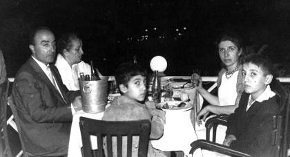 Me (middle) having dinner with family.