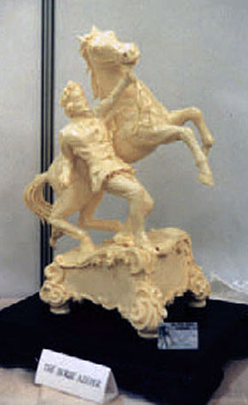 HORSE KEEPER - Butter Sculpture - SILVER MEDAL