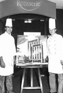 My sugar painting of Houston InterContinental hotel. With Executive Chef Egon Hoffman