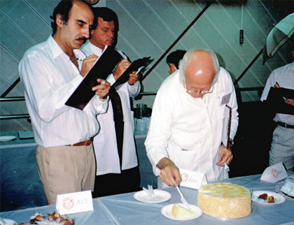 During Prima Cake Competition Judging with Joseph Cavietzel.
