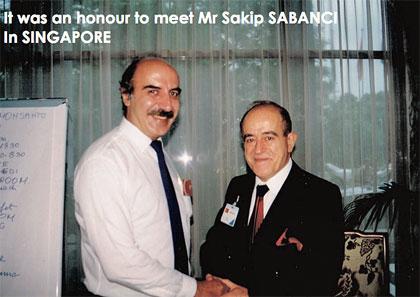 It was an honour to meet Mr Sakip Sabanci in Singapore.
