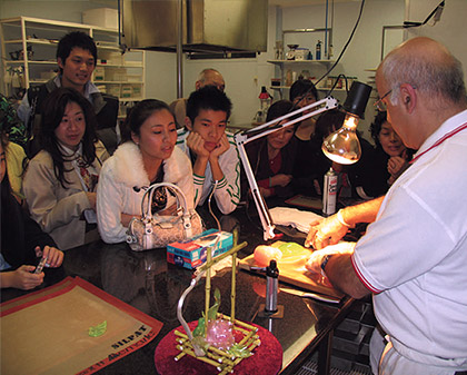 Demonstrating Sugar Work for Chinese Women Association.