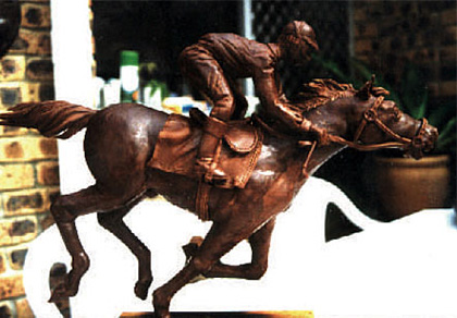 Chocolate sculpture for Melbourne Cup