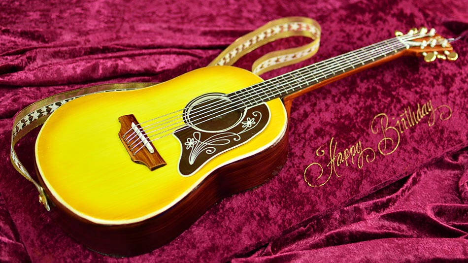 Guitar Cake Images With Name : How to Make a Guitar Cake by Yeners Way - Cake Art Tutorials