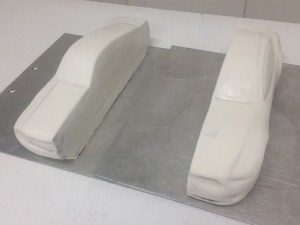 The half cars coated with fondant