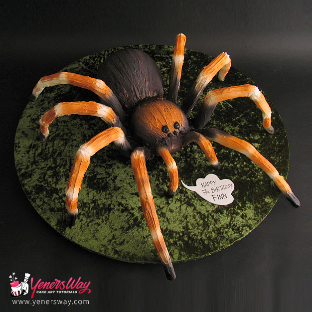 Happy Birthday Spider Cake
