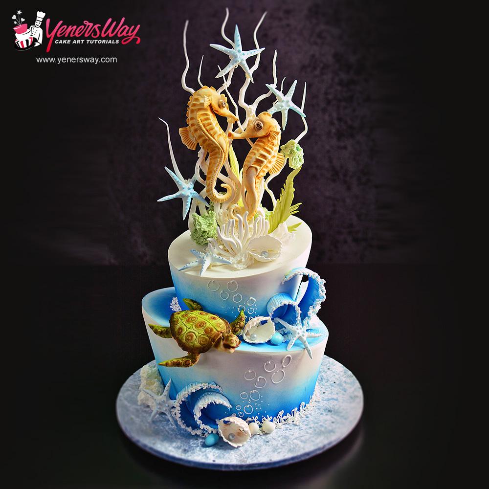 underwater-scene-cake-with-seahorse-couple4
