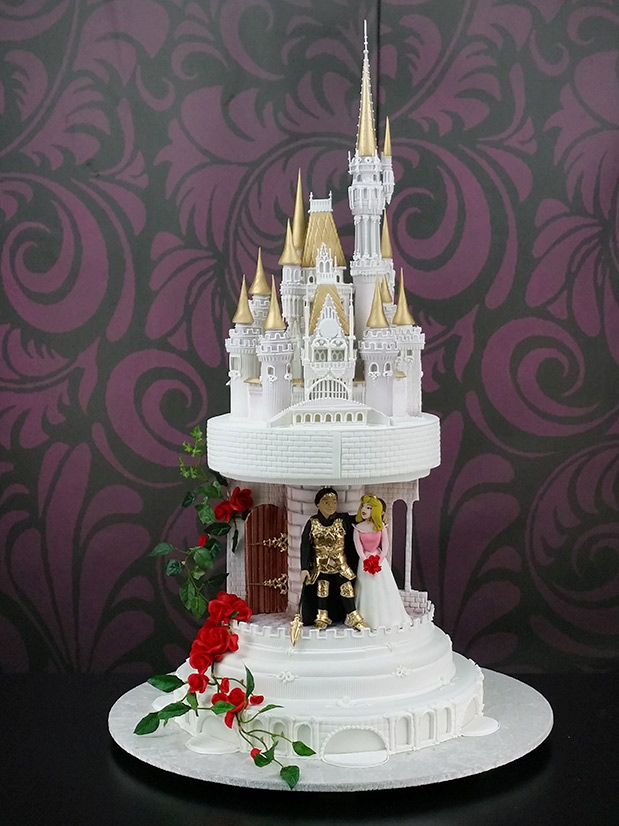 Disney Fairytale Castle Wedding Cake Story Yeners Way