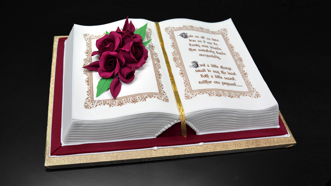 How to make a 3d book cake yeners way for Decorated bible