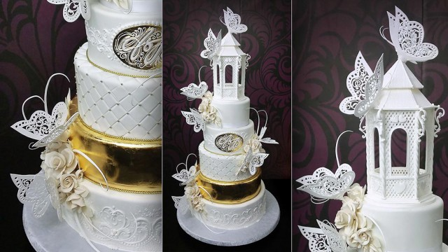 Assembling and Decorating the Butterfly Paradise Wedding Cake