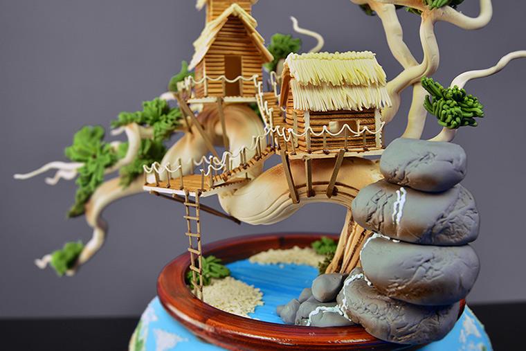 Cake Decoration Trees : Earth Day Bonsai Tree Cake - Yeners Way