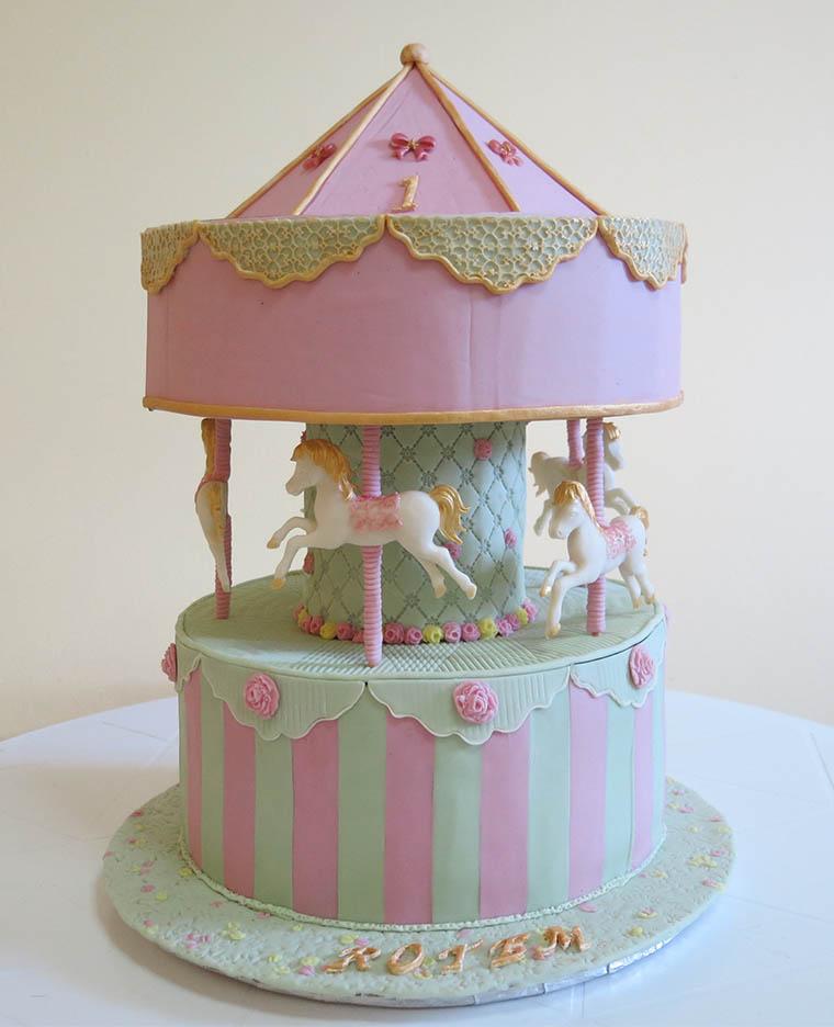 Торт карусель фото пошагово