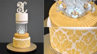 Bling Bling Wedding Cake