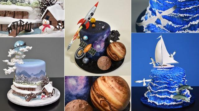 Fondant Scenery Cakes Bundle