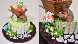 Easter Wheelbarrow Cake