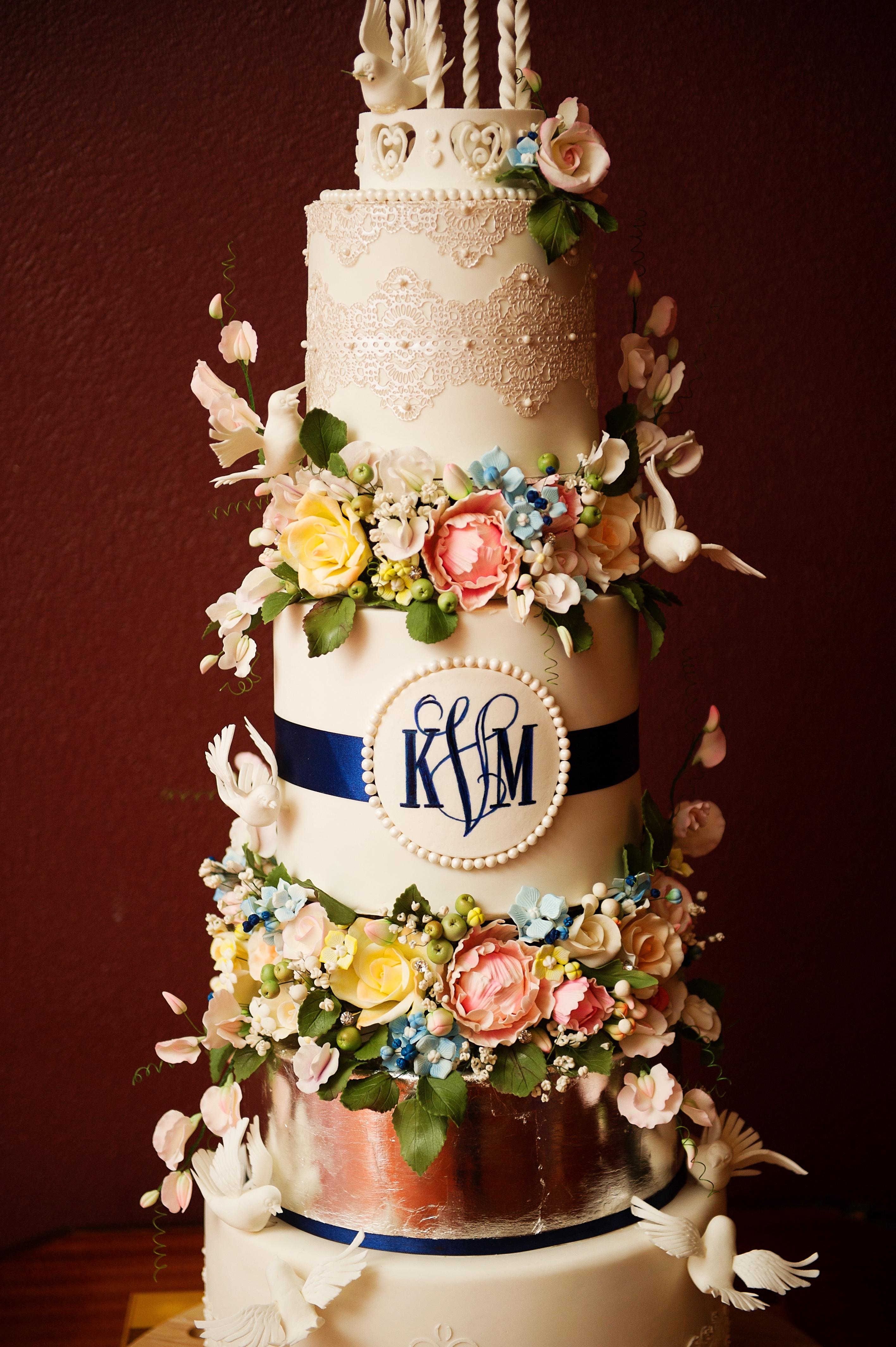 Gazebo and Doves Wedding Cake - Yeners Way