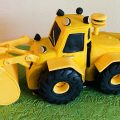 Digger Cake for a 4th Birthday Party