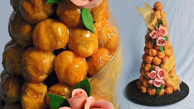 Apricot Croquembouche