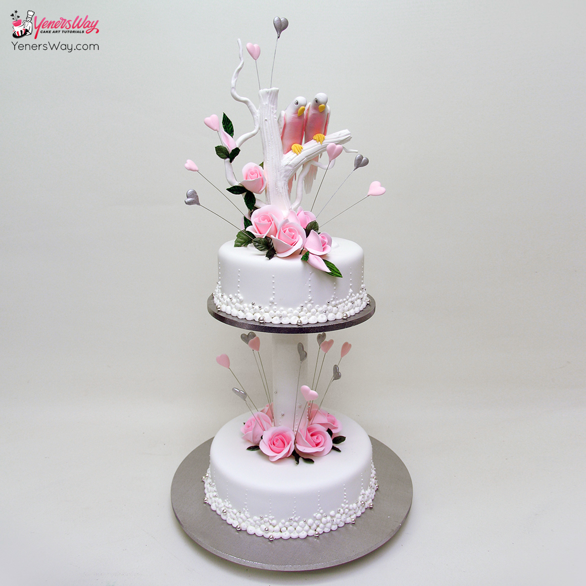 Love Birds Wedding Cake