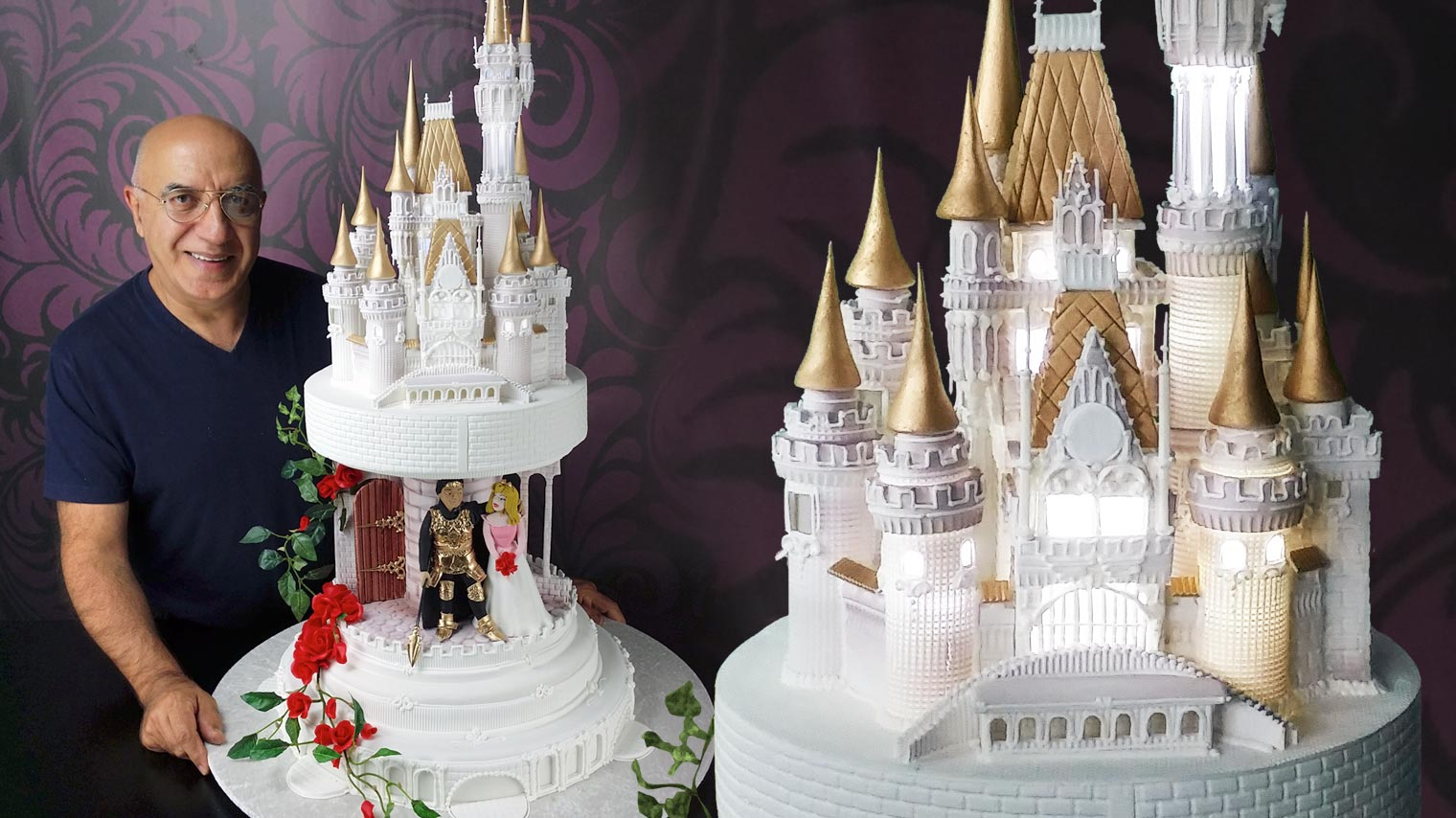 Disney Fairytale Castle Wedding Cake Story