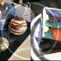 Galaxy mirror glazed cake