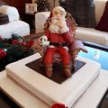 Santa in his royal chair