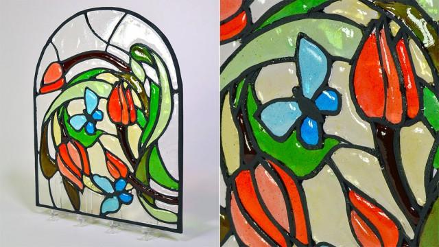 Isomalt Stained Glass Technique