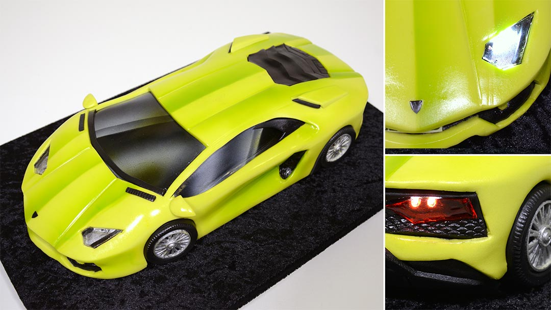 3d Lamborghini Car Cake Yeners Way