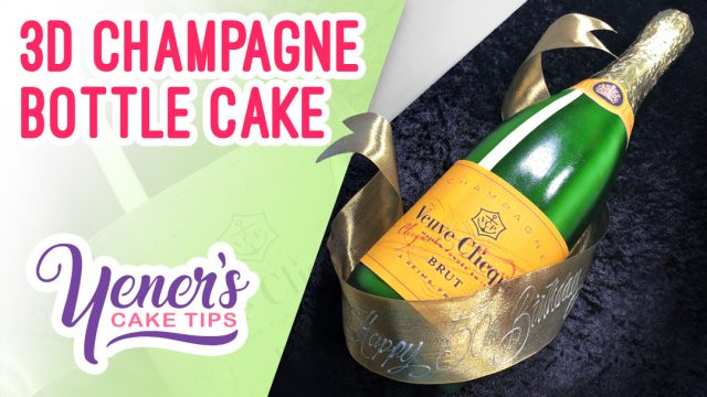 3D CHAMPAGNE BOTTLE Cake Tutorial