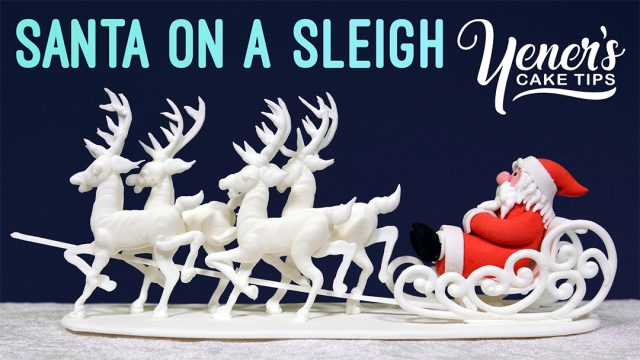 SANTA ON A SLEIGH Cake Topper Tutorial