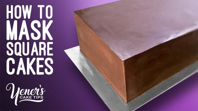 How to MASK Square or Rectangle Shaped Cakes